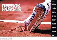 PUBLICITE ADVERTISING 116  1989   Reebok  (2p)   chaussures de sport baskets 2