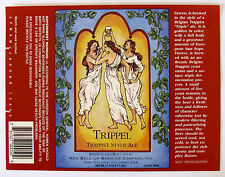 New Belgium TRIPPEL TRAPPIST STYLE ALE  beer label CO 650ml Copr 1991 Var. #2