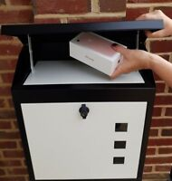 LARGE PARCEL BOX /Mail -Waterproof, lockable, secure, beautiful design UK Seller
