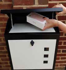 LARGE PARCEL BOX - THEFT/WEATHERPROOF LOCKABLE PARCEL SAFE, UK SELLER FREE DLVRY