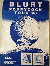 AFFICHE VINTAGE BLURT POPPYCOCK TOUR 86