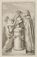 CHODOWIECKI (1726-1801). Die Büste Shakespeare's; Druckgraphik