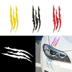 40Cm*12Cm Car Caravan Reflective Monster Sticker Red For Marks Headlight Claw-