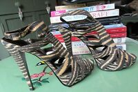 New look Fabric Leopard Print Strappy Shoes Size 5 - BNWOT