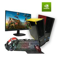 ULTRA FAST Dell Gaming PC Quad Core i5 SET 8GB 480GB SSD GT 1030 Win10 Monitor
