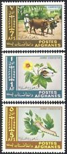 Afghanistan 1966 Oxen/Caterpillar/Flower/Cattle/Insects/Animals 3v set  (n25992)