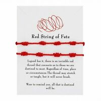2Pcs 7 Knot Red String Lucky Woven Adjustable Bracelet Friendship Couple Jewelry