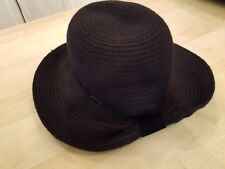 Betmar New York Clancy Braided Wide Brim Hat - One Size -Black-SAMPLE 7bf0b24864fd
