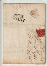 """ NORWICH "" EARLY 2-LINE - 1741 PRE-STAMP ENTIRE"