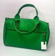 Borsa da donna verde in pelle con borchie UK SPEDIZIONE RAPIDA NUOVO Trapuntato