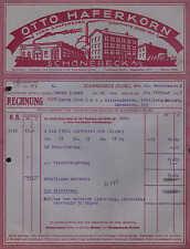 SCHÖNEBECK (ELBE), Rechnung 1932, Kelterei Otto Haferkorn