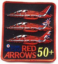 Royal Air Force Rojo Flechas 50 Años Fuerza Aérea Real Militar Parche Bordado