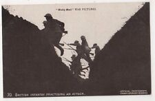 WW1, British Infantry Practicing An Attack, Daily Mail no. 70 Postcard, B651