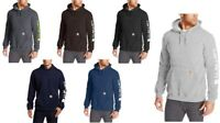 Carhartt Men's Signature Sleeve Logo Work Sweatshirt Hooded Black M L 2XL