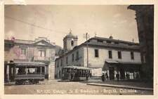 BOGOTA, COLOMBIA ~ TROLLEYS & COLLEGE ~ REAL PHOTO POST CARD ~ used 1923