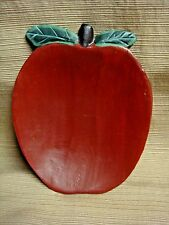 Handcrafted WOODEN APPLE Shallow Bowl / Snack Tray / Candy Dish