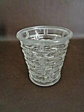 Vintage Glass Jar or Tumbler With Basket Weave Pattern (#12A022)