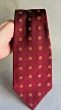 MEN'S NEW RALPH LAUREN POLO  SILK TIE ~  RED WITH GOLD CIRCLES PATTERN