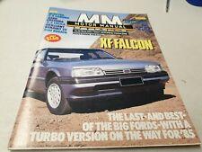 Nov 1984 MOTOR MANUAL Mag COMMODORE SS GROUP 3 , XF Falcon 929 Camry Astra