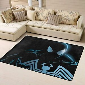 Marvel Spider-Man Noir Area Rug Living Room Bedroom Flannel Floor Mat Carpet