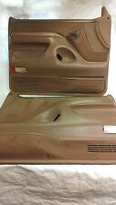F150 F250 F350 BRONCO TAN DOOR PANEL SET PAIR POWER XLT 1992 1993 1994 1995 1996