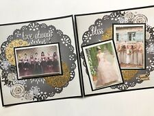 Wedding Scrapbook Pages, Premade Neutral Wedding Layouts, Wedding Pages