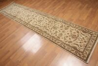 """2'8"""" x 12' Hand Knotted Traditional Runner Wool Oriental Pile Area Rug Beige"""