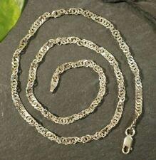 Elegantes 925 Sterling Silber Collier Kette Singapurkette Gedreht Funkelnd