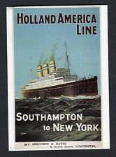 Reproduction of 1930s Poster: Holland America Line: Linear Statendam