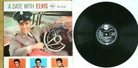 EX/EX A DATE WITH ELVIS PRESLEY 1959 ORIGINAL VINYL LP RCA RD 27128 SILVER SPOT