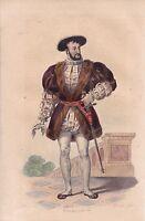 Portrait XIXe François Ier Valois Duc Milan Renaissance Concordat de Boulogne