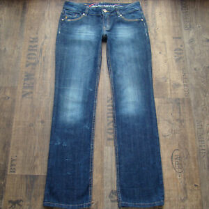 EDC ESPRIT Five Straight W28 L30 Damenjeans Stretch hüftig Jeans blau 28/30