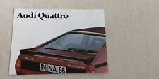 Audi quattro urquattro Typ 85 Prospekt Broschüre Poster 03/80