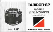 Tamron SP 2X Tele Converter Model O1F  Manual & Ephemera