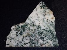 """Green Tree Agate  slab 4  1/4 """" x 4 3/8 """"  rough-cabbing--display or educational"""