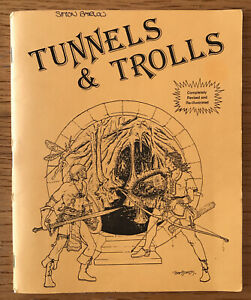 Tunnels & Trolls 5th Edition Fantasy RPG Basic Rules Manual Flying Buffalo RARE