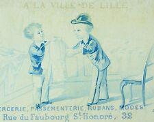 1880's Lovely Clothing Store Scene A La Ville De Lille Victorian Trade Card F87