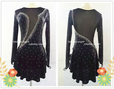 Custom Fashion Ice figure Skating Dresses Costume For Adults or Girls Black W052