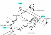 TOYOTA SU003-01116 Exhaust Pipe Support No.1 86 2012-2019 Genuine Car Parts