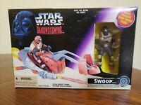 NIP STAR WARS Shadows of the Empire SWOOP Bike & Storm Trooper Figure MIB SOTE