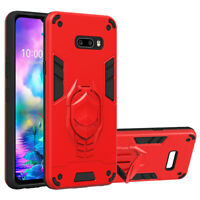 For LG G8X ThinQ Shockproof Hybrid Armor Case Cover + 9H Glass Screen Protector