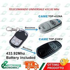 TELECOMANDO PER CANCELLO AUTOMATICO UNIVERSALE A 433,92 MHZ FAAC, BFT,CAME, ETC