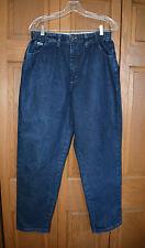 VTG Women's LEE Jeans 14P MINT Hi-Rise INDIGO NO REAR POCKETS Straight Leg Relax