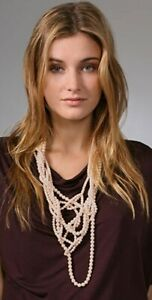 LEE ANGEL 'MARTINE' IVORY PEARL NECKLACE, $476