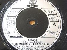 "SENSATIONAL ALEX HARVEY BAND - RUNAWAY  7"" VINYL"