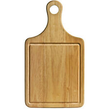 Brand New Durable Rubber Wood Paddle Chopping Board With Groove 36cm x 20cm