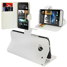 Etui Coque Housse Portefeuille Support Video Rabat BLANC HTC One Mini M4/ 601