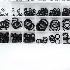 3-12mm 225pcs Assorted Rubber O-Ring Washer s Gasket Assortment Set for Car