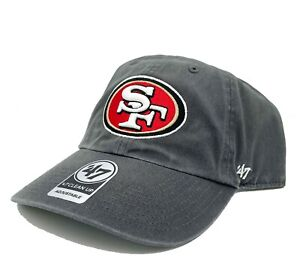 San Francisco 49ers 47 Brand Clean Up Adjustable Field Classic Charcoal Hat