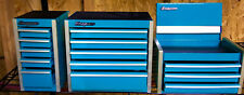 Snap On Micro Mini Tool Box Top Chest, Side, Bottom Cab Set Turquoise Cabinet